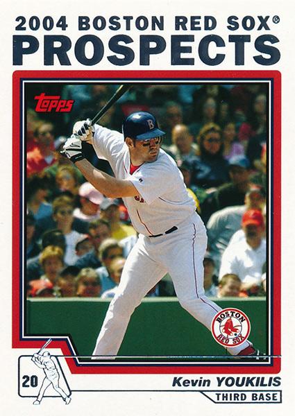 Honkbal Verzamelkaarten: sport 2004 Bowman Futures Game Gear #FG-KY Kevin Youkilis Boston Red Sox Baseball Card