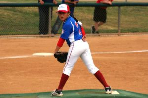 Girl pitcher